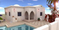 Nice Plan Maison Tunisie that you must know, You?re in good company if you?re looking for Plan Maison Tunisie Minecraft House Plans, Minecraft House Designs, Minecraft Houses, Villas, House Canopy, Modern Villa Design, Modern Minimalist House, Mountain House Plans, Bungalow House Plans