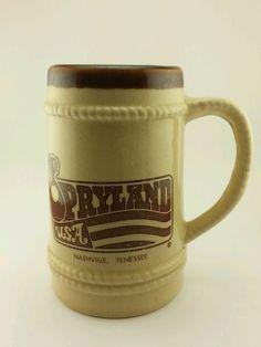 Vintage Retro Opryland USA Nashville Tennessee Beer Stein Mug Ceramic. 20oz