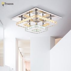 52.69$  Watch now - http://alim58.worldwells.pw/go.php?t=32568713796 - Modern Crystal LED Ceiling lights Fixture For Indoor Lamp lamparas de techo Surface Mounting Ceiling Lamp For Bedroom