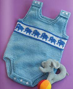 Ravelry: Elephant Onesie pattern by Daniela Nii
