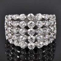 Roberto Coin classica 5 row diamond ring 2.65ctw
