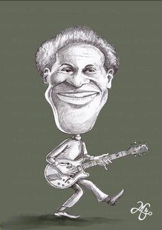 Chuck Berry (Homenagem/caricatura/desenho e pintura digital)