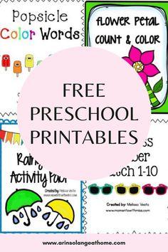 Preschool Printable's - arinsolangeathome
