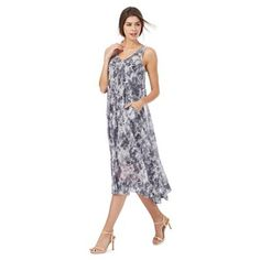 RJR.John Rocha Light grey floral print dress | Debenhams
