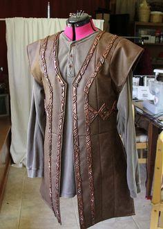 Vest with dwarven leather-work.