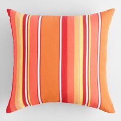 One of my favorite discoveries at WorldMarket.com: Sunbrella Mango Dolce Stripe Outdoor Throw Pillow