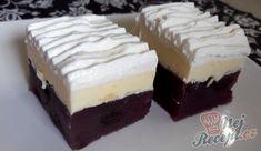 NEPEČENÉ krémové řezy s ovocem   NejRecept.cz Pie Dessert, Sweet Cakes, Cheesecakes, Izu, Ice Cream, Yummy Food, Sweets, Cookies, Baking