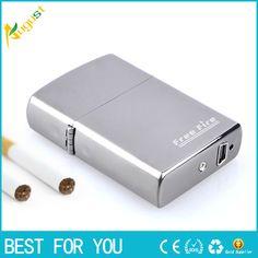 100pcs/lot gold metal usb cigar lighter Gift Promotion flameless USB Rechargeable Cigarette Electric Lighter