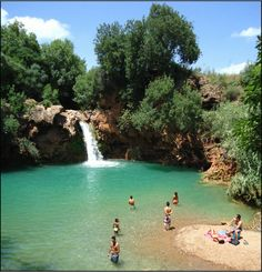 the waterfall near Tavira in the Algarve