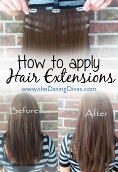 I might just have to try this now.  Super easy!! www.TheDatingDivas.com #hairextensions