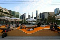Playful street furniture in Vancouver, we should have some of these in our parks!