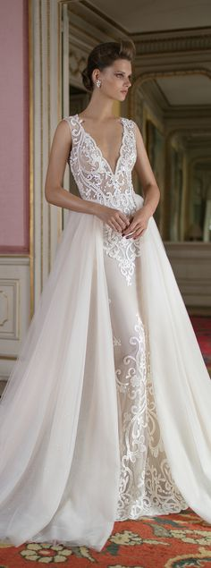 Wedding Dress by Berta Spring 2016 Bridal Collection - Wedding Dresses with Detachable Skirts