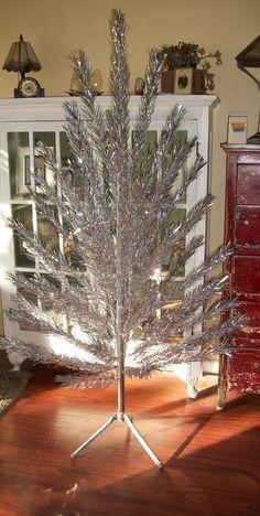 Vintage Aluminum Christmas Tree 6 Foot by RessieLillian on Etsy, $75.00