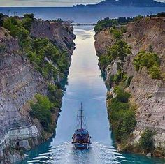 Corinth Canal in Greece.