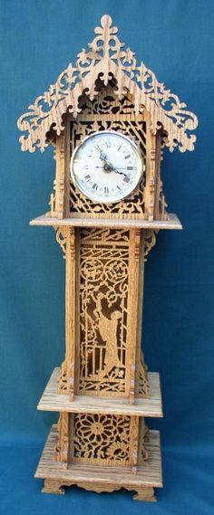 Grandfather Clock Scroll Saw Fretwork Pattern Scroll