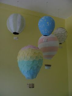 @emily peterson.  Your paper mache balloons are AMAZING!  Baby is going to LOVE this nursery.  <3