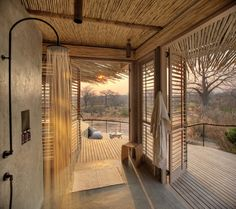 Jabali Ridge Lodge is designed by Nicholas Plewman Architects and is located in Ruaha National Park, Iringa, Tanzania. Photography by Stevie Mann Photography. Wooden Walkways, Timber Structure, Small Buildings, Bathroom Interior Design, Lodges, Best Hotels, Outdoor Living, Simple Things, Diy Design