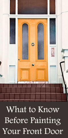 A new coat of paint on your front door can give your home freshness, and change the mood or look of the entire outside of your home. Types of Paint For exterior doors, an exterior acrylic latex paint is usually the best choice, with an oil-based primer. This type of …