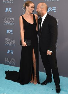 Still celebrating: The 28-year-old was there to support her new fiance Jason Statham, and ...