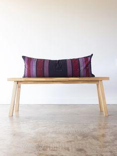 Amaranthus Hmong Long Lumbar Pillow – d+k renewal Tiki Faces, Lumbar Pillow, Throw Pillows, Amaranthus, Bamboo Plants, Pillow Inserts, Bedroom, Spring, Furniture