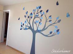 Custom boom jongenskamer blauw