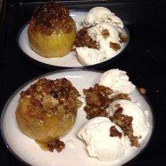 Apple crisp my husband makes using Alton Brown's recipe!! So yummy!!!! I linked the recipe.