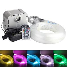 Unique NEW W RGB speed Twinkle LED Fiber Optic star ceiling kit light pcs m