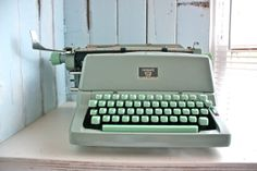 Typewriter - Cute colours.
