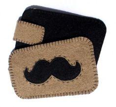 Etui na telefon - Moustaches (proj. Maja Allure)