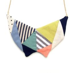 Patch Q Necklace - this would be neat done as a crazy quilt piece with some nice stitching and beads.