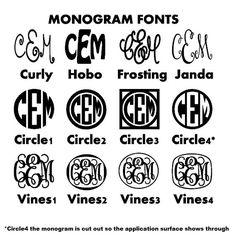 Monogram Iron On Monogram Iron On Transfer by IHeartHoundstooth, $3.50