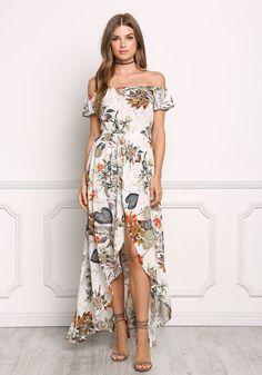 Off The Shoulder Dress 17 Fancy Romper, Maxi Romper, Romper Outfit, Elegant Dresses, Casual Dresses, Fashion Dresses, Long Summer Dresses, Short Dresses, Luau Outfits