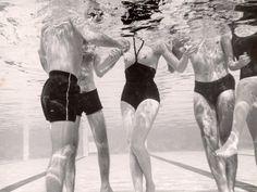 Underwater Shot of Actress Daphne Dayle in Topless, Paul Schutzer