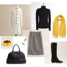 Polka Dots and Yellow, created by bluehydrangea on Polyvore