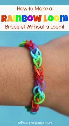 How to Make a Rainbow Loom Bracelet Without the Loom!  All you need is this video {and some rubber bands!}