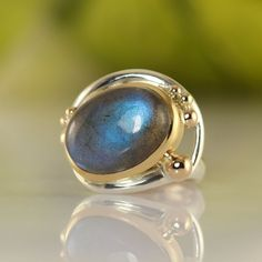 14k Gold Ring, Silver Rings, Sell Your Gold, Labradorite Ring, Boho Rings, Cocktail Rings, Bespoke, Peacock, Gold Jewelry