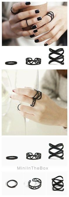 """Cool and chill ring set with only $2.59. Plus FREE Shipping! Use coupon code """"PTM11010"""" for better deal!"""
