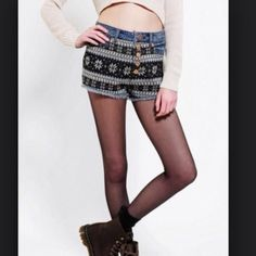 RARE URBAN OUTFITTERS Rare Sweater high rise denim cheeky. Might keep. Urban Outfitters Pants