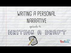Writing a Personal Narrative: Publishing for Kids - YouTube
