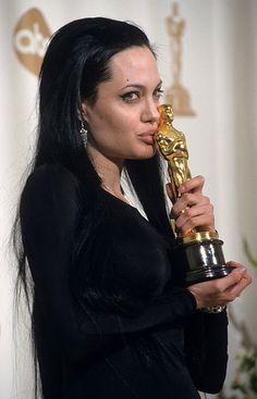 black haired Angelina Jolie
