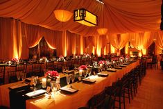decor by Revelry event designers ... rectangular table settings for reception