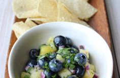 Blueberry #pineapple #salsa, anyone?