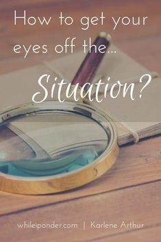 Does your situation look bad? It's time to refocus, regroup and regain perspective. Here's how to get your eyes off the situation. Christian Women, Christian Living, Christian Faith, Christian Quotes, Overcoming Adversity, Overcoming Obstacles, Let God, Walk By Faith, Life Is Hard