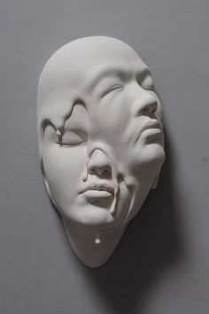 All eyes are on the Chinese sculptor, Johnson Tsang, and his porcelain creations. Would you like if someone represented your dreams, make them come true? That's exactly what Johnson Tsang did with his second version of the Lucid Dream series. Johnson Tsang, 3d Art, Clay Faces, Art Sculpture, Surrealism Sculpture, Ceramic Sculptures, Sculpture Ideas, Colossal Art, Lucid Dreaming