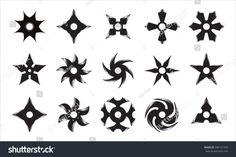 Face Tats, Ninja Star, Shuriken, Swords And Daggers, Star Tattoos, Tattoo Drawings, Tatting, Weapons, Stencils