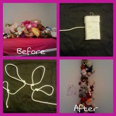 Looped Hanging Stuffed Animal Organizer