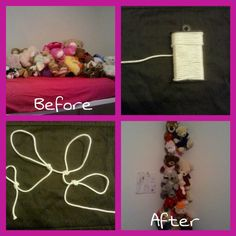 Looped Hanging Stuffed Animal Organizer