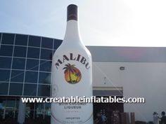 Giant Inflatable Malibu Rum Bottle