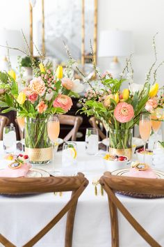 Mother's Day Brunch Tablescape Pizzazzerie day brunch tablescape A Floral Themed Mother's Day Brunch Mothers Day Decor, Mothers Day Brunch, Mother's Day Brunch Buffet, Spring Party, Gifts For Your Mom, Flower Centerpieces, Centerpiece Ideas, Wedding Centerpieces, Tablescapes