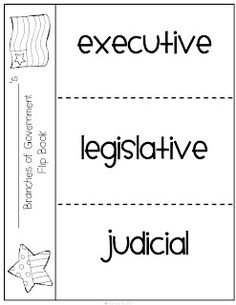 Here's a foldable on the branches of government.  Full lesson plan: http://www.fwisd.org/socialstudies/Documents/grade_k-3_govt-branches.pdf